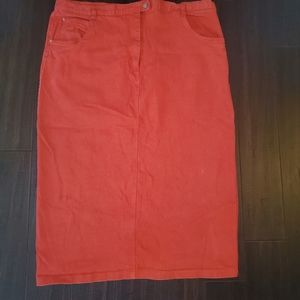 Simply Stretch Midi Jean Skirt sz 40
